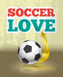 Love soccer template Royalty Free Stock Image