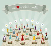 We love social media network Royalty Free Stock Photos