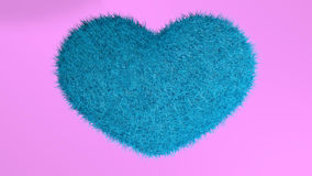 Love, soft blue heart. Royalty Free Stock Photo