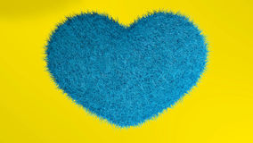 Love, soft blue heart. Royalty Free Stock Image