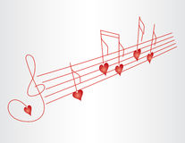 Love song Royalty Free Stock Images