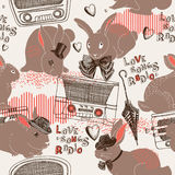 Love Songs Radio Pattern Stock Photography