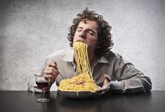 Love for Spaghetti Stock Photography