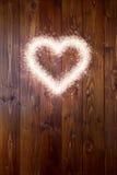 Love sparkle heart Stock Image