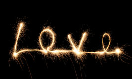 Love sparkler Stock Image
