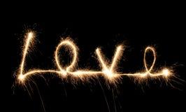 Love sparkler stock image