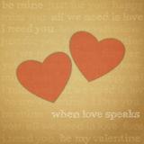 Love speaks Royalty Free Stock Images