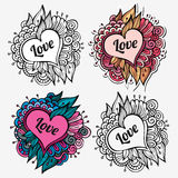 Love special vector nature labels Royalty Free Stock Images