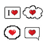 Love speech bubble pixels art stlye Royalty Free Stock Image