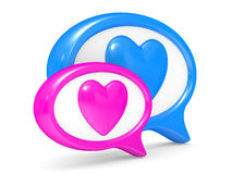 Love speech bubbles Stock Photography