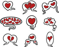 Love speech bubbles Royalty Free Stock Images