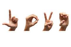 Love spell american sign language Stock Photo