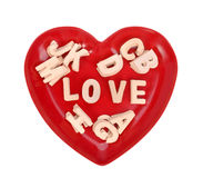 Love spell with Wooden alphabet blocks Royalty Free Stock Image