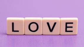 Love Spelled Out. In Tiles stock photo