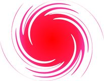 Love spiral. Pink and red abstract spiral Stock Photos