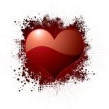 Love splat red Stock Image