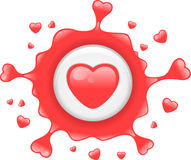 Love splat Royalty Free Stock Images