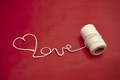 Love on the spool Royalty Free Stock Photo