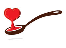 Love spoon Royalty Free Stock Image