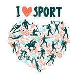 Love Sport Concept Royalty Free Stock Photos