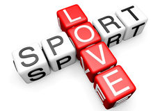 Love Sport Crossword Royalty Free Stock Photo