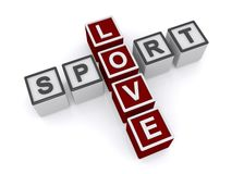 Love sport text Royalty Free Stock Image