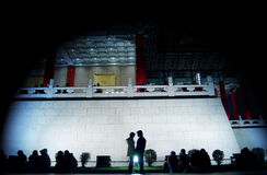 Love spotlight at chiang kai shek cultural center royalty free stock image
