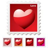 Love stamp Royalty Free Stock Photos
