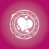 With love stamp Royalty Free Stock Photos