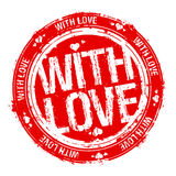 With love stamp. Royalty Free Stock Photos
