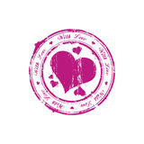 With love stamp Royalty Free Stock Images