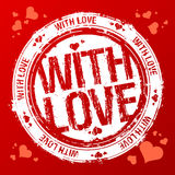 With love stamp. Stock Images