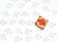 Love stamp. On white paper background Stock Images