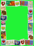 Love stamp frame 4x6 Royalty Free Stock Photo