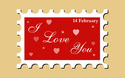 LOVE Stamp (Vector) Stock Photography