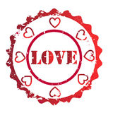 Love stamp vector Stock Photo