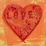 Love stamped heart Royalty Free Stock Photography
