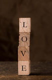 Love in Stamping Blocks Stock Photos