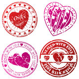 Love stamps for love letters Royalty Free Stock Photography