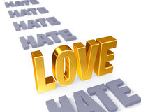 Love Stands Up to Hate Royalty Free Stock Photography