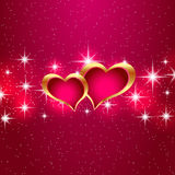 Love star background beautiful bright hearts. Vector eps10 illustration. Royalty Free Stock Images