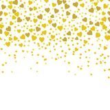 Gold sparkles on white background. Gold glitter background. royalty free illustration