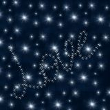 Love Stars on Blue Background Stock Images