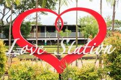 Love station Cafe shop signs Stock Image