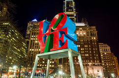 The Love statue in the Love Park Philadelphia Stock Photography