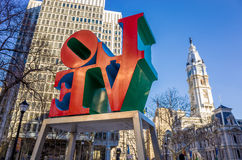 The Love statue in the Love Park Philadelphia Royalty Free Stock Photography