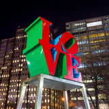The Love statue in the Love Park Stock Photography