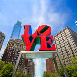 Love statue in Philadelphia Royalty Free Stock Photo