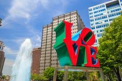 Love statue in Philadelphia Stock Photo