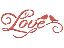 Love stencil inscription vector illustration